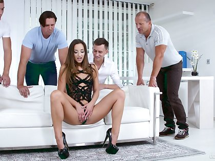 Hungarian newborn Charlie Dean Amirah Adara is fucked by Charlie Dean and his fellows