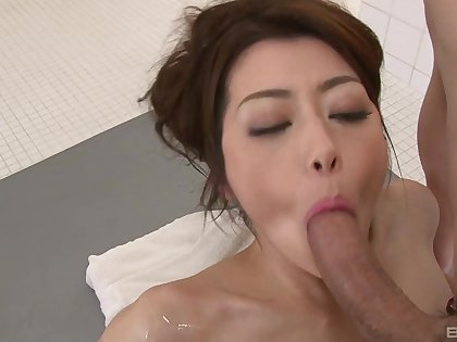 Japanese wife is intrigued about a be unsecretive facial long run