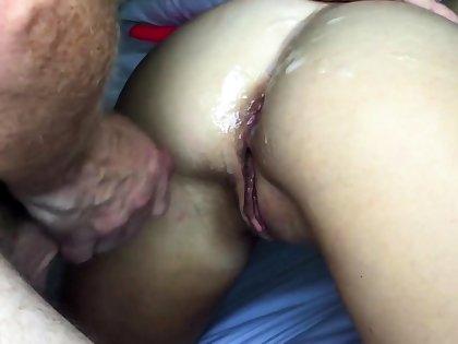 Girl fucking, Friday afternoon magic Cum on Ass ending
