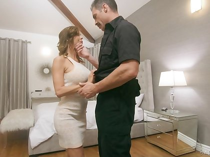 Police officer fucks juggy tie the knot Alexis Fawx in front of her husbands