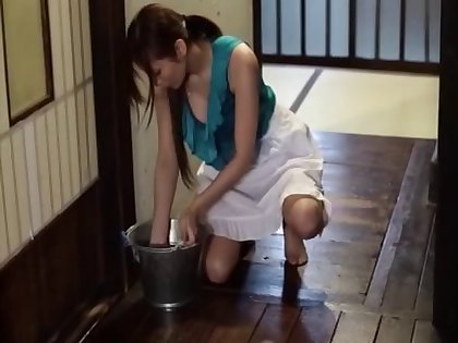 Smooth fucking on the floor the greatest 2 guys together with charming Yuuna Shiina