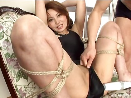 Kinky Japanese wife loves uncultivated affianced and pleasured with toys