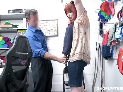 Chubby redhead MILF Amber Dawn is punished with missionary at bottom the game table