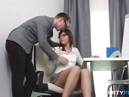 Studying Math sucks and slutty nympho gets nailed doggy style