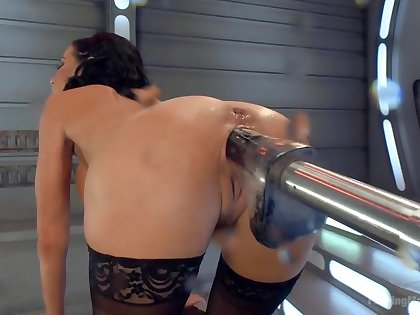 Big-titted-squirting-anal-milf Veronica Avluv challenges Fucking Machines