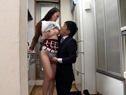 Horny amateur asian hottie fingers and fucks