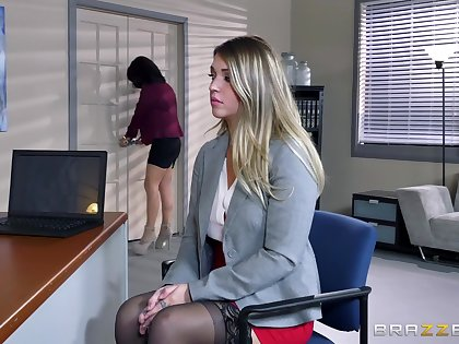 A handful of naked females in hot office lezzie porn with big toys