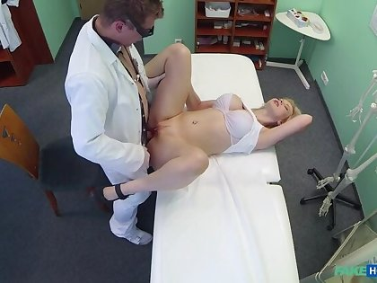Magnificent busty blonde loves a man in unchangeable