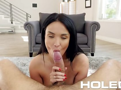 French Maid Anissa Kate gets the Perquisite all over her Butt!