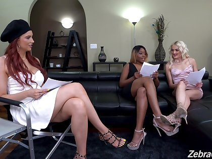 Lesbians share the best interracial scenes on cam